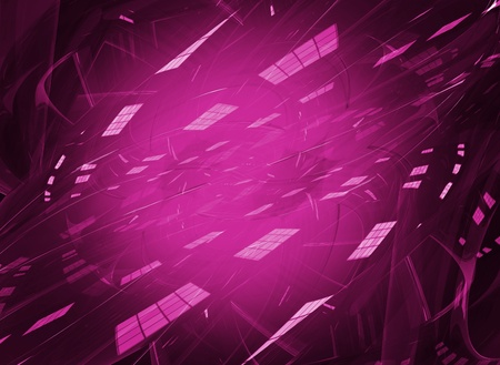 light reflex: Pink Digital Art Creative Background 3D Render. Dark Pink Futuristic Abstract Background. Horizontal Design. Glassy Transparent Elements.