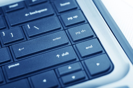 pause button: Modern Low Profile Laptop Keyboard (PC) Technology Photo Collection. Stock Photo