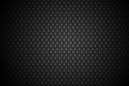 Black Floral Pattern - Black Floral Background (with Black Vignette)  Stock Photo - 10654754