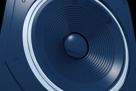 Blue Speaker Illustration. 3D Render Illustration. Music Illustration Collection. Stock Illustration - 10655041