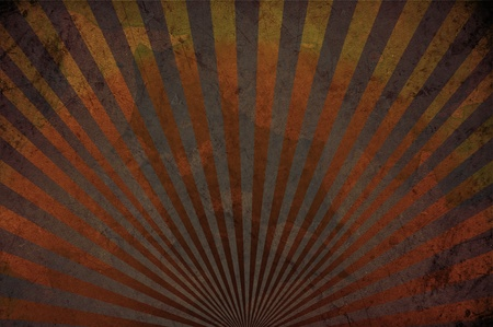 Corroded Background with Rays. Vintage Browny Background.