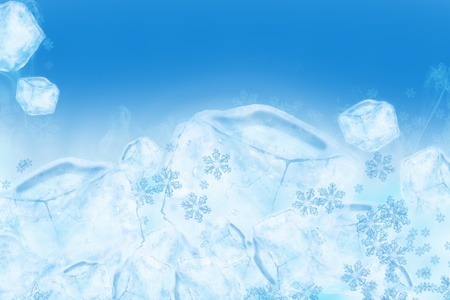 Icy Ice Background. Cool Frozen Water Illustration. Great As Background for Cold Drinks Sale, Ice Creams and more! Cool Blue Ice Cubes Background. Imagens