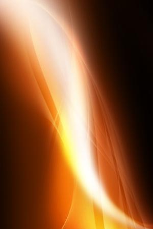 Orange Light Rays Background. Elegant Stylish Light Rays Background. Vertical Design. Stock Photo - 10654583