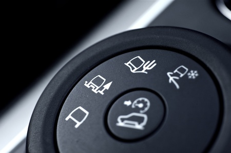 switcher: All Roads Driving Modern Vehicle Switch. Regular Road Driving, Sandy Roads and Snow Driving. Down Hill Driving Button. Stock Photo
