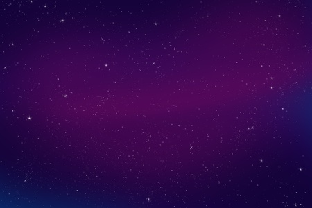 overnight: Colorful Abstract Bright Night Sky Illustration. Night Sky Background (Violet-Purple Colors)