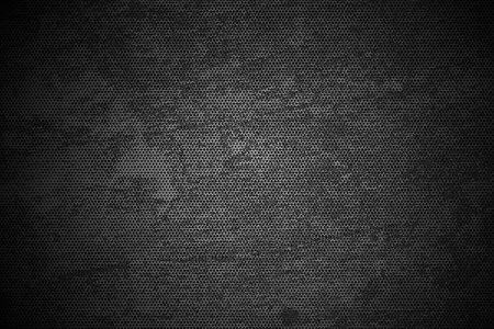 scratched: Black Meshy Grunge Metal Texture - Grunge Metal Background. Corroded Black and White.