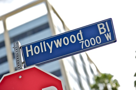 west hollywood: Hollywood Street Sign. Hollywood Blvd 7000 West. Hollywood Blvd and Rodeo Drive. California USA