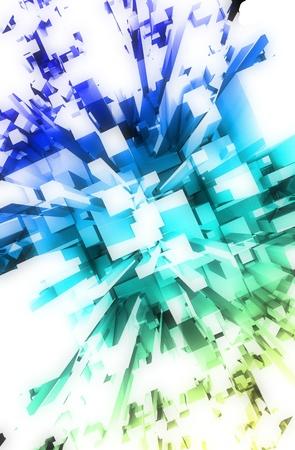 version: Abstract Colorful Blocks - Light Version. Vertical Illustration. 3D Render. Stock Photo