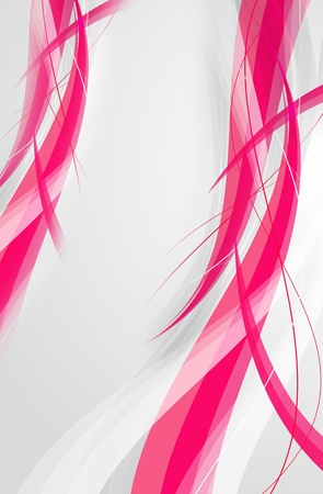Pink Wavy Background - Gray Background. Vertical Background. Stock Photo - 10724519