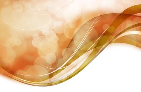 공백으로 물결 모양 황금 Bokeh 배경 디자인입니다.