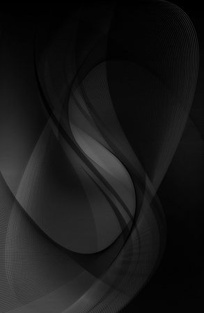 Elegant Black Wavy Background Design. Gray Mist Background. Vertical Image. Stock Photo - 10724631