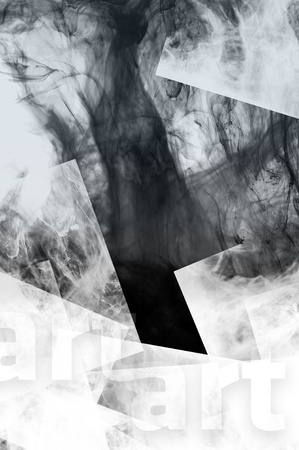 Shapes and Smoke. Abstract Creative Background with Smoke and Square Elements. Stock Photo - 10724784