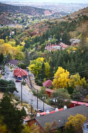 colorado state: Part of Manitou Springs, Colorado - Bird View. The City of Manitou Springs is a Home Rule Municipality Located in El Paso County, Colorado, United States.