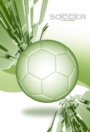 soccer coach: Soccer Tournament Light Green Background  Soccer Tournament Layout. Just Place Your Copy and Logo! Sport Illustrations Collection Stock Photo