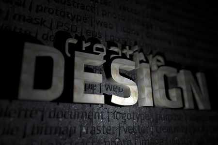 psd: Creative Design 3D Theme - 3D Design Illustration with DOF