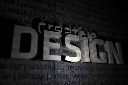 Creative Design 3D Theme - 3D Design Illustration with DOF Stok Fotoğraf - 12787037