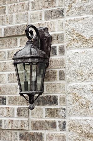 outdoor lighting: Decorative Outdoor Lighting - Outdoor House Light Vertical Photo.