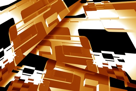 Abstract Brown Background - Horizontal Browny Shapes Abstract Background