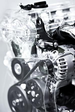injection valve: Car Engine Closeup - Vertical Photography  Modern Economical Vehicle Engine  Stock Photo