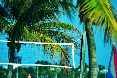 Beach Volley Ball Theme  Florida Beach Volley Ball Game Place Stock Photo - 12787905