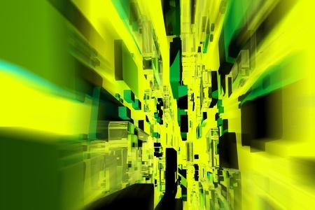 objetos cuadrados: Dise�o en Movimiento Resumen de dise�o de color verde oscuro con algunos objetos cuadrados en movimiento abstracto de fondo horizontal