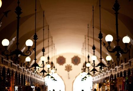 Retro Lighting - European Architecture  The Renaissance Sukiennice   Cloth Hall, Drapers  Stock Photo - 12789735