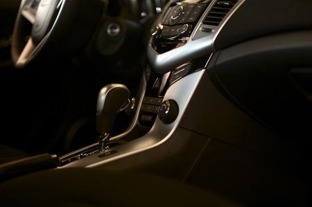 Auto Interieur - Dark Vehicle Interior Design Studio Photo. Transport foto collectie. Redactioneel