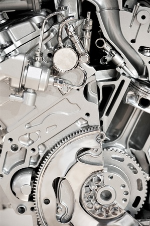 mpg: Modern Vehicle Engine Display. Modern Economical V6 Engine