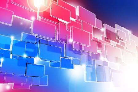 hi tech background: Pinky Blue Glassy Blocks 3D Rendered Background  Cool Glassy Blocks and Spot Lights  Stock Photo
