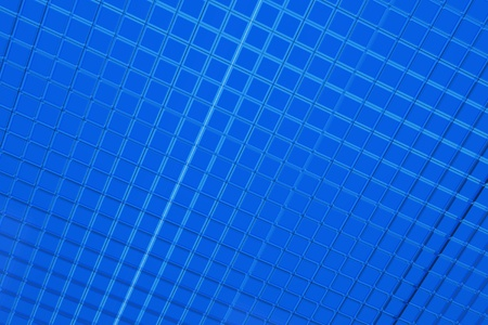 Blue Squares Background - Blue 3D Cubes Pattern  Background.