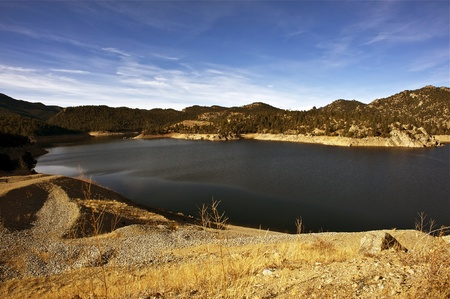 Colorado Gross Reservoir near Denver Colorado. Colorado Dry Landscape. Stock Photo - 12787179