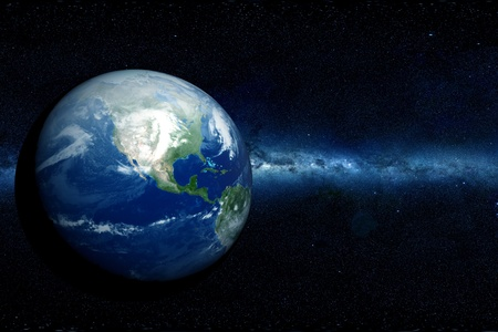 continente americano: Tierra de Am�rica del Norte Continente Globo de la Tierra - Norther hemisferio oscuro Comos
