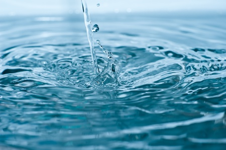 Water Flow Macro Photo  Crystal Clear Water Background  Horizontal Photo