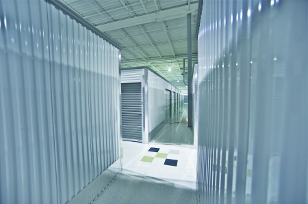 Storage Units. Storage Facility Interior.  Stock Photo - 12787711