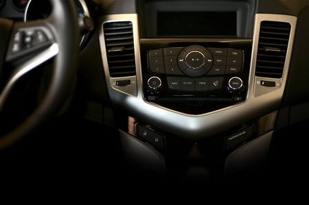 conditions: Dark Car Dashboard Horizontal Studio Photography  Modern Car Interior Design