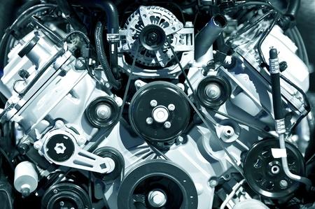 cooling: Powerful Gasoline Engine Closeup - Modern Transportation Technology