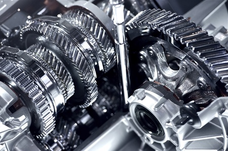 Automatic Transmission Chromed Gears - Closeup Horizontal Photography