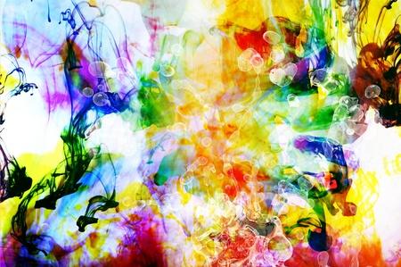 Kleurrijke abstracte kunst achtergrond gemaakt van kleurrijke Vloeistoffen Stockfoto