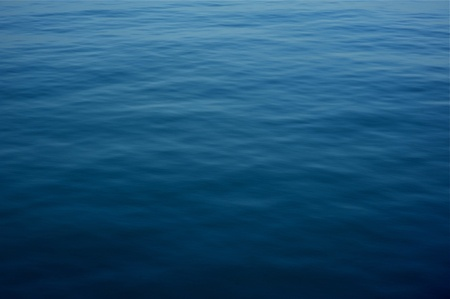 Deep Blue Water Surface Background  Horizontal Natural Water Surface Photography  photo