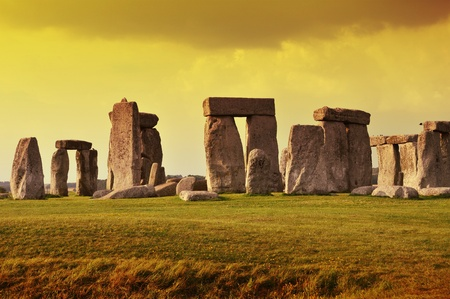Stonehenge Sunset - Prehistoric Monument Located in the English County of Wiltshire  Stonehenge Horizontal Photography