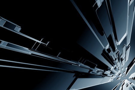 black background: Dark Black Glassy 3D Blocks Background  Cool Dark 3D Rendered Glassy Background