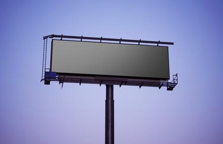 Grand Format Billboard Sign  Blank Large Billboard - Late Afternoon Shot  photo