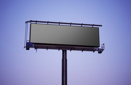Grand Format Billboard Sign  Blank Large Billboard - Late Afternoon Shot  photo
