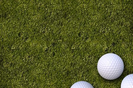 Golf Balls on the Golf Field. Golf Balls on Green Fresh Cut Grass. Golf Theme with Copy Space. Horizontal Illustration. illustration