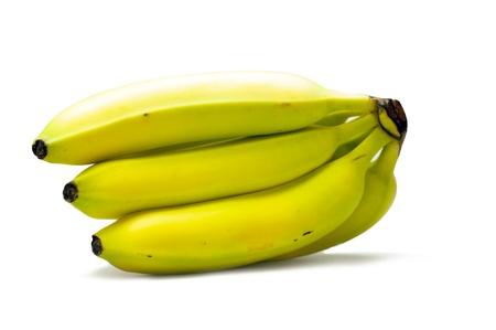 tropicana: Bunch of Bananas Isolated on White. Fresh Organic Banana Fruits. Stock Photo