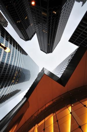 rascacielos: Los rascacielos. Chicago Architecture Downtown. Retrato Foto Foto de archivo