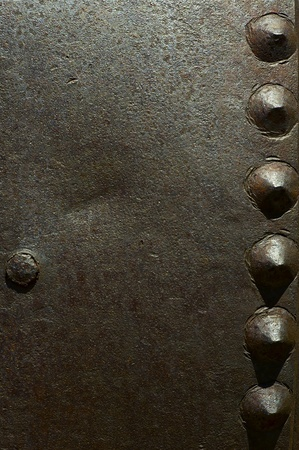 corroded: Large Rivets Old Metal Background - Corroded Metal Texture