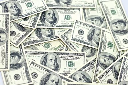 one hundred dollars: Dollars Background  One Hundred Dollars Bills Background  Business Background Stock Photo
