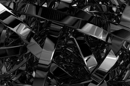 Abstract 3D Illustration - Abstract Metal Elements 3D Render Background. Stok Fotoğraf