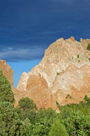 geologic: Garden Rocks. Rocks in the Garden of the Gods. Colorado Springs, Colorado USA. The Outstanding Geologic Features of the Garden of the Gods Park Stock Photo